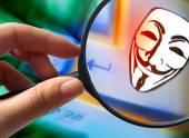 Internet piracy - illegal trademark abuse - criminality — Stock Photo