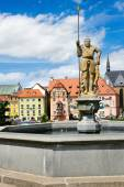 Spalicek - complex of medieval houses, town Cheb, West Bohemia,  — Stock Photo