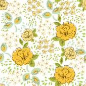 Beautiful seamless rose pattern abstract — Vector de stock