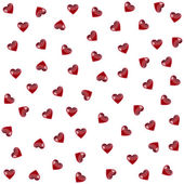 The seamless pattern with heart. Vector — Vector de stock