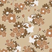 Floral seamless pattern with simple flowers — Stock Vector