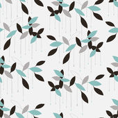 Abstract seamless pattern with leaf, leaf background — Stock Vector