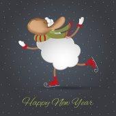 поздравительная открытка новых годов. символ 2015-летних — Cтоковый вектор