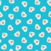 Hearts seamless background — Stock Vector