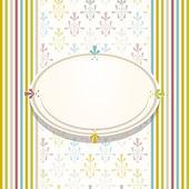 Wedding card or invitation colorful design — Stock Vector