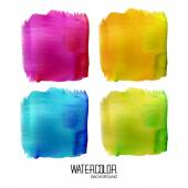 Colorful watercolor banner. Watercolor background — Stock Photo