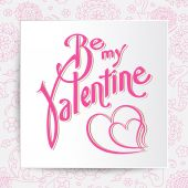 Be mine valentine. Vector card — Stock Vector