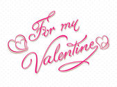 Be my valentine calligraphy card template — Stockvektor