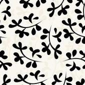 Sömlös blommönster med blad — Stockvektor