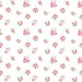 Cute vintage rose pattern. Vector illustration — Stock Vector