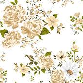 Rosen nahtlose hintergrund. vektor-illustration. — Stockvektor