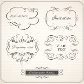 Vintage frame and page decoration set. Calligraphic design elements frame — Stock Photo