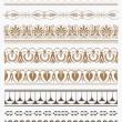 Set of vector antique greek borders — Stock Vector #71645197