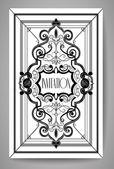 Vintage ornate card design for greeting card, menu, cover, invitation. — Stock Vector