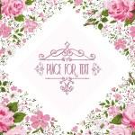 Elegant frame with roses. Floral background — Stock Vector #75655421