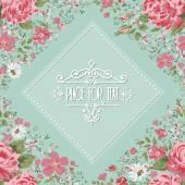 Moldura elegante de rosas. fundo floral. Vector — Vetor de Stock