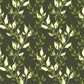 Vector olive royal spring seamless background — Stock Vector