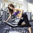 Fitness girl in gym — Stock Photo #58424493