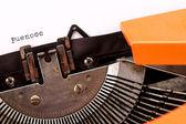 老式打字机一些词宏风格 — 图库照片