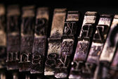 The Vintage Typewriter some character or letter macro style — Foto Stock