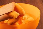 The Seville Orange Jam Part on The Wood  — Stock Photo