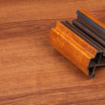 The Single PVC Corner Wood Decor on the wood — Stock Photo #68569507