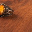 The Old Ring Retro Style on the wood — Stock Photo #70960961