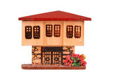 The miniature dollhouse on the white background — Stock Photo