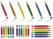 Pencil Sets — Stock Vector