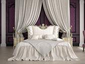 Interior of a classic style bedroom in luxury villa. 3d rendering — Stockfoto