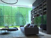 Loft apartment interior. 3d rendering — Photo