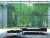Loft apartment interior. 3d rendering — 图库照片