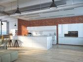 Luxurious kitchen. 3d rendering — Stock Photo