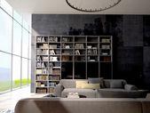 Loft apartment interior. 3d rendering — Stock Photo