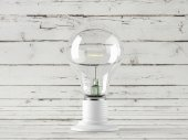 Light bulb, isolated, Realistic photo image — Stock Photo