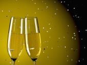 Iki kadeh şampanya — Stok fotoğraf