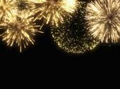 Holiday golden sparks — Stockfoto
