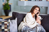 Portrait of a relaxed young woman — Stock Photo