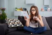 Leasure and home concept — Stock Photo