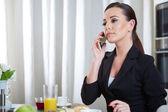 Telephoning woman — Stock Photo