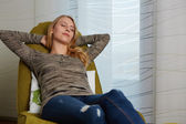 Attractive young woman resting — Stock Photo
