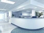 Hospital. 3d rendering — Stock Photo