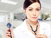 Portrait of young woman doctor — Stock Photo