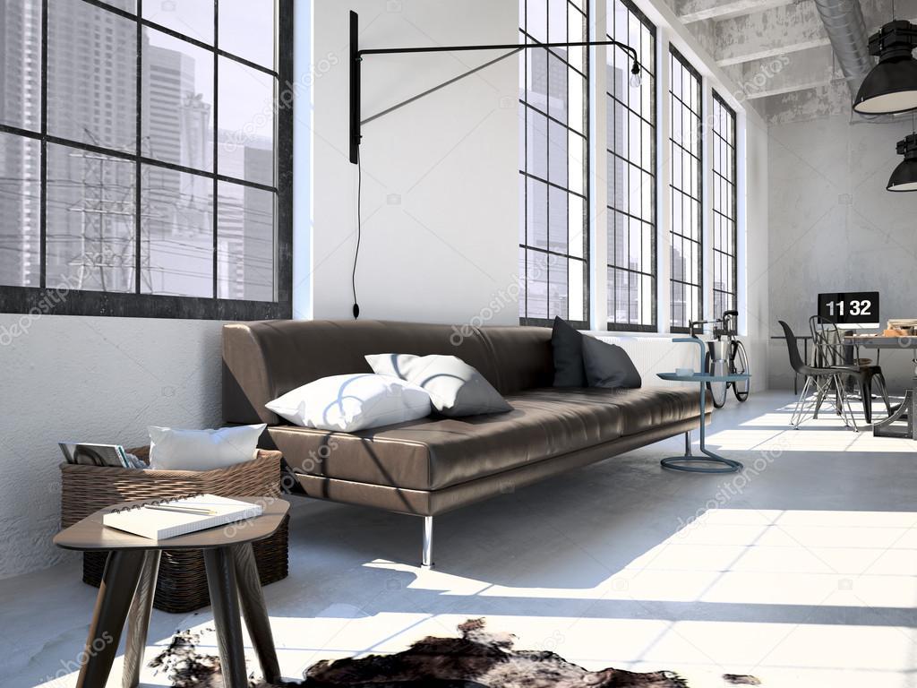 Moderne loft 3d rendering stockfoto 2mmedia 89636788 for Loft interieur