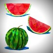 Low poly of the watermelon — Stock Vector #70685153