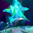 Low poly northern lights — Stock Vector #70991207