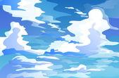 Massive cumulus clouds — Stock Vector