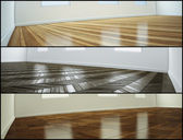 Samples of parquet floor — 图库照片