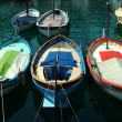 Colorful boats in sunlight in Port of Nice, France — Stock Photo #58613951