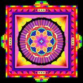 Psychedelic mandala — Stock Vector